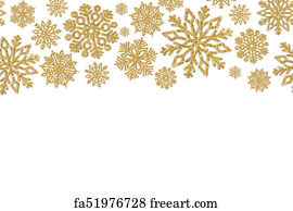 winter gold glitter sparkle art print christmas frame with gold snowflakes border of sequin
