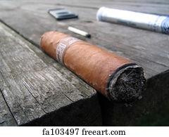 Fag End Art Print Cigar