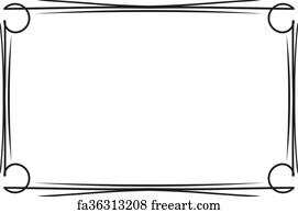 black border art print classical decorative simple black frame for your text menu or
