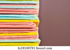 Free Art Print Of Colored Paper Files Stack