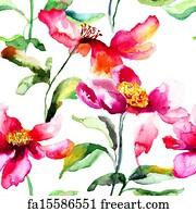 Free art print of stylized poppy flowers illustration stylized art print colorful poppy flower mightylinksfo