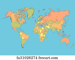 Free art print of colorful world map illustration freeart fa21277135 art print colorful world map illustration gumiabroncs Gallery