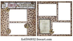 art print cookie baking scrapbook frame template