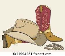 4cfad08acce Free art print of Boots stomping cowboy hat.