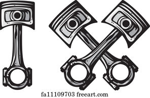 Free Crossed Piston Art Prints and Wall Artwork | FreeArt