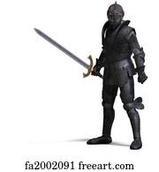 Fantasy Knight Sword Art