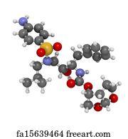 Free art print of Ritonavir HIV drug (protease inhibitor