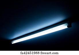 Fluorescent Tube Art Print
