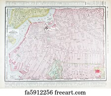 Free New York Road Map Art Prints and Wall Artwork FreeArt
