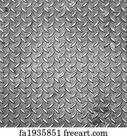 diamond plate art print diamond steel