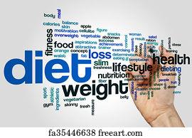 Diet Word Art Print