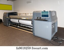 Free art print of Digital printing - wide format printer