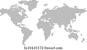 Dot World Map.Free Art Print Of Dotted World Map Multicolored Dotted World Map