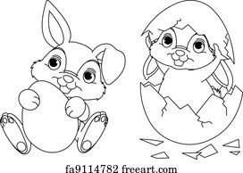 Free Easter Bunny Coloring Page Art Prints And Wall Artwork Freeart