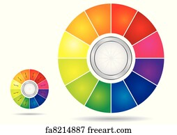 free art print of color wheel color wheel presentation template