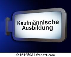 free art print of ausbildung ausbildung german word for education or training 3d render. Black Bedroom Furniture Sets. Home Design Ideas