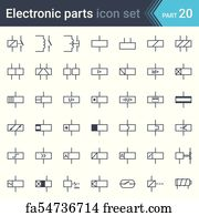Cool Free Art Print Of Electronic Circuit Symbols Complete Set Of Wiring Digital Resources Indicompassionincorg