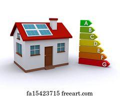 Exceptional Energy Ranking Art Print   Energy Efficient House