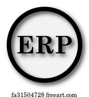 free art print of erp icon restart icon internet button on white