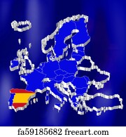 Free art print of European Union, shaded relief map