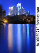 Free Art Print Of Atlanta From Piedmont Park Skyline And