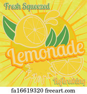Free art print of Lemonade poster. Lemonade poster in vintage ...
