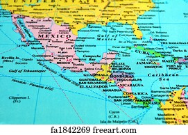 Free Art Print Of Central America Map Central America Map - Maps of central america