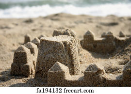 Free Art Print Of Sand Castle Sand Caslt On The Beach Of