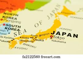Free Japan Map Art Prints And Wall Art FreeArt - Japan map free