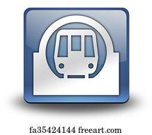 U S Map Art Print Icon Button Pictogram Subway