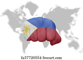 Free Map Of The Philippines Art Prints and Wall Art  FreeArt