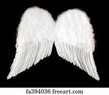 angel wings art print angel wings isolated on black - 1000 Free Prints