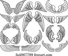 angel wings art print angel wings - 1000 Free Prints