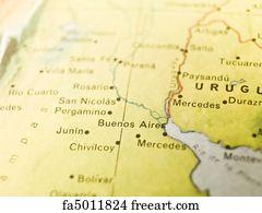 Free Argentina Map Art Prints And Wall Art FreeArt - Junin argentina map