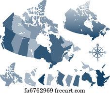 Free Map Canada Art Prints and Wall Art FreeArt