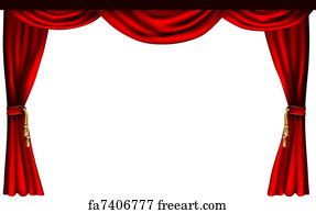 Art Print   Theatre Or Cinema Curtains