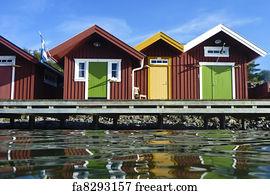 Free Swedish Houses Art Prints And Wall Art FreeArt - Traditional swedish homes