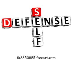 Art Print - 3d Self Defense Crossword Cube Words  sc 1 st  FreeArt & Free art print of Woman fighter - front kick. self-defense. Young ... 25forcollege.com