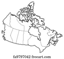 Free Canada Map Art Prints and Wall Art FreeArt