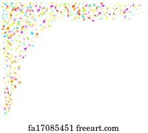 Free art print of Falling gold confetti
