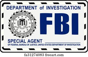 photograph about Printable Fbi Badge known as Cost-free Fbi Artwork Prints and Wall Art FreeArt