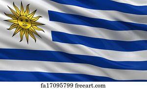 Free Uruguay Flag Art Prints And Wall Art FreeArt - Uruguay flag