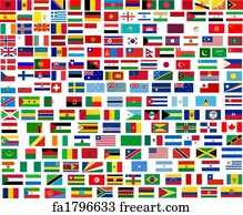 Printable pictures of flags from around the world