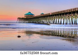 Free art print of The fishing pier at sunrise, in Folly Beach, South  Carolina
