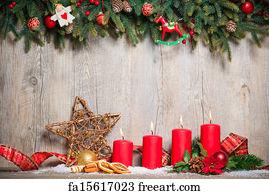 Free season greetings art prints and wall artwork freeart season greetings art print four advent candles burning m4hsunfo