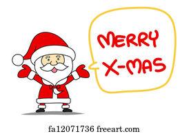 Free art print of Merry christmas xmas greeting funny santa claus on ...