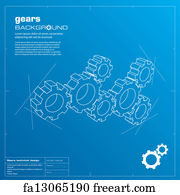 Free blueprint paper art prints and wall artwork freeart blueprint paper art print gears blueprint background vector malvernweather Gallery