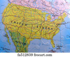 Free art print of Globe Map Puzzle North America Spherical
