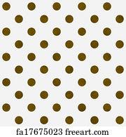 Polka Dot Wallpaper Art Print