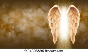 Free art print of angel wings and healing light white angel wings art print golden angel wings banner thecheapjerseys Images
